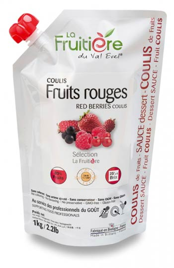 La Fruitiere - copyright de la photo - Doypack fruits rouges recto