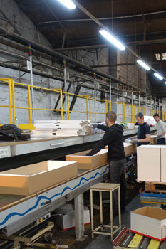 Demeyere : chaine d'emballage - mise en carton