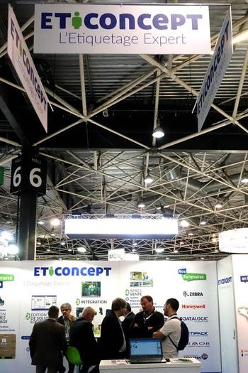Stand Eticoncept: salon Europack Euromanut CFIA de 2017