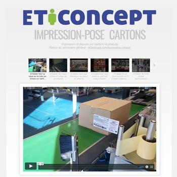"""Suivre ici le lien vers les vidéos """"Impression-pose Cartons &Produits"""""""