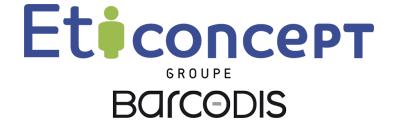 Nouveau logo Eticoncept 2019 signature groupe Barcodis