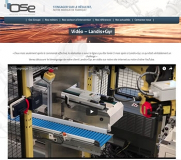 Landys et Gyr fait appel à OSE pour l'automatisation de l'assemblage des compteurs Linky.