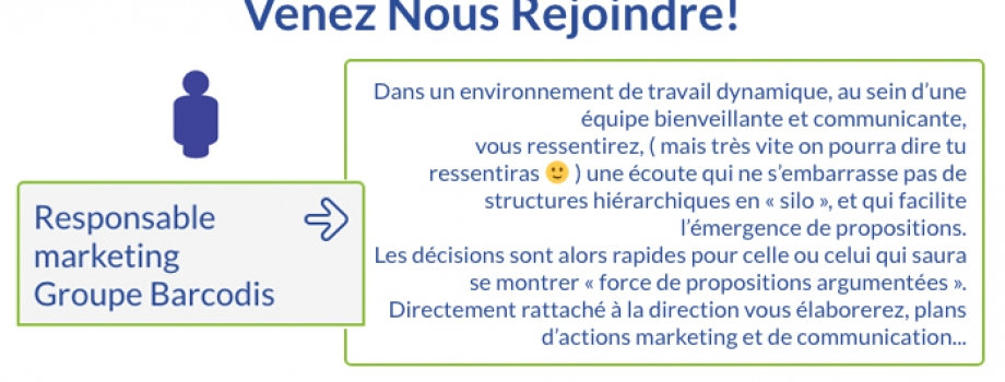 Responsable Marketing Groupe Barcodis