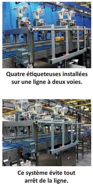 Système étiquetage automatique chez Granini
