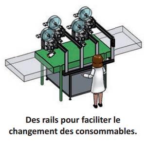 Granini : Changement des rouleaux d'étiquettes