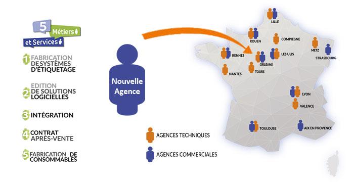 Carte De France Nouvelle Agence Orleans Eticoncept