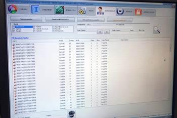 Ecran de supervision du logiciel de cross-docking