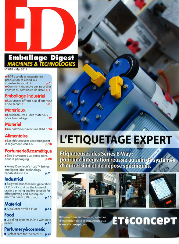 Couverture Emballage Digest - l'Etiquetage Expert