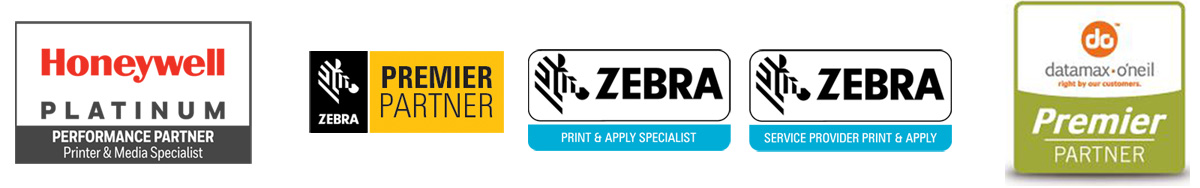 Logos des partenaires constructeurs d'imprimantes industrielles