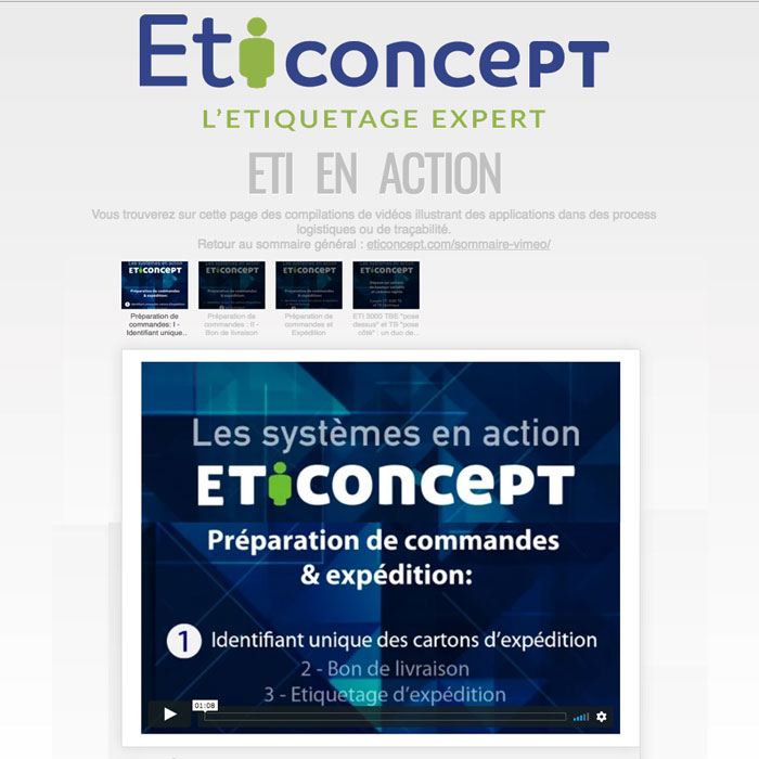Accès video : Eti en action