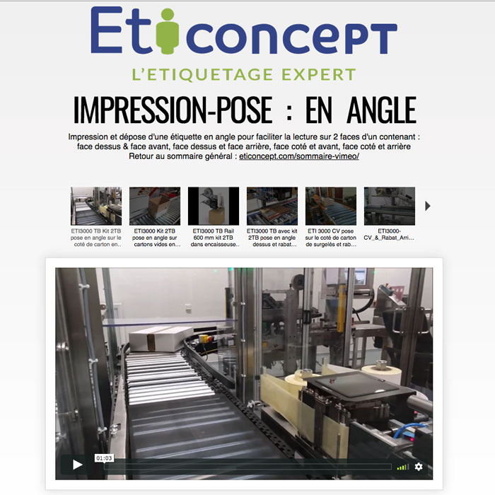 Accès video : pose en angle