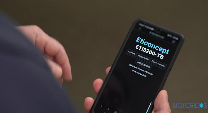 Pilotage des ETI3200 à l'aide d'un smartphone