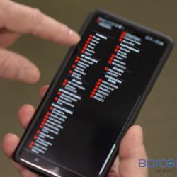 Affichage des entrées-sorties sur smartphone